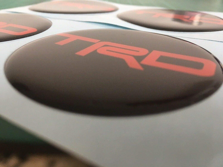 MR2 Confezione da 4 Colore: Nero e Rosso Adesivi per coprimozzo in Lega per Toyota TRD Scotoby Designs
