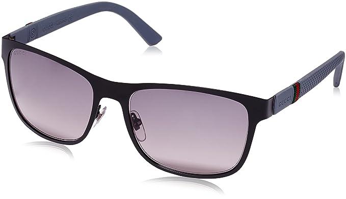 5fb14bf3af Amazon.com  Gucci sunglasses GG 2247 S 4VAEU Metal Matt Black - Grey ...