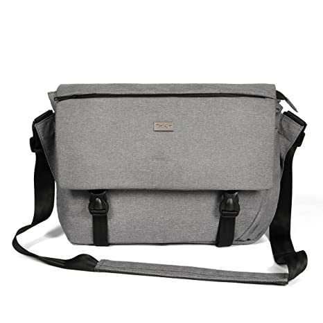 538713ca95 ThiKin Classic Sturdy Lightweight Casual Daily 14-Inch Laptop Messenger Bag  for Women and Men