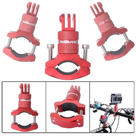 Fantaseal Support Guidon Réglable, Fixation Vélo Moto Universel Support VTT  Rotation à 360 °, 747f8f87ec86