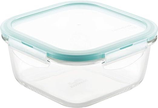Lock & Lock LLG225 - Táper cuadrado 840 ml, cristal transparente ...
