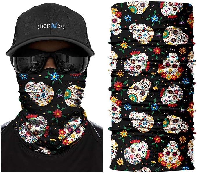 Mini Mexican Skulls ShopINess Pa/ñuelo Braga Multifunci/ón