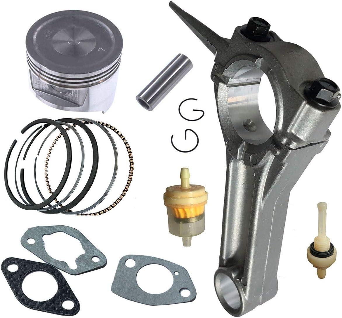 FJSa Connecting Rod Piston Ring Gasket Kit for Honda GX390 188F 13HP Replace 13101-ZF6-W00 Generator