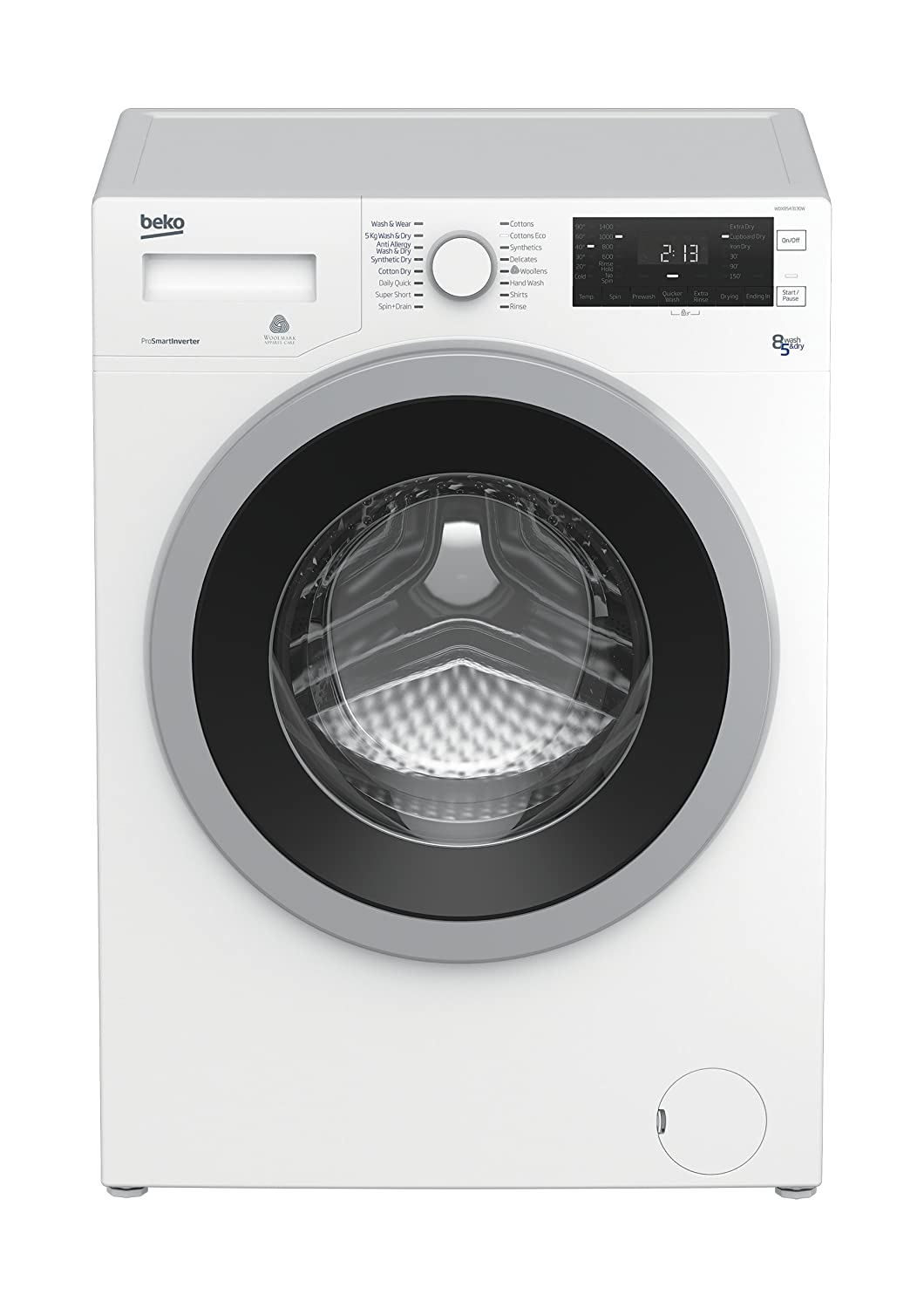 Beko WDX8543130 Independiente Carga frontal A Blanco ...