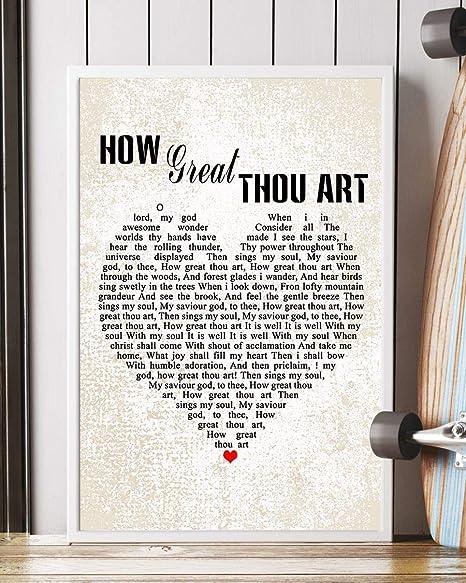How Great Thou Art Hymn Lyrics Printable