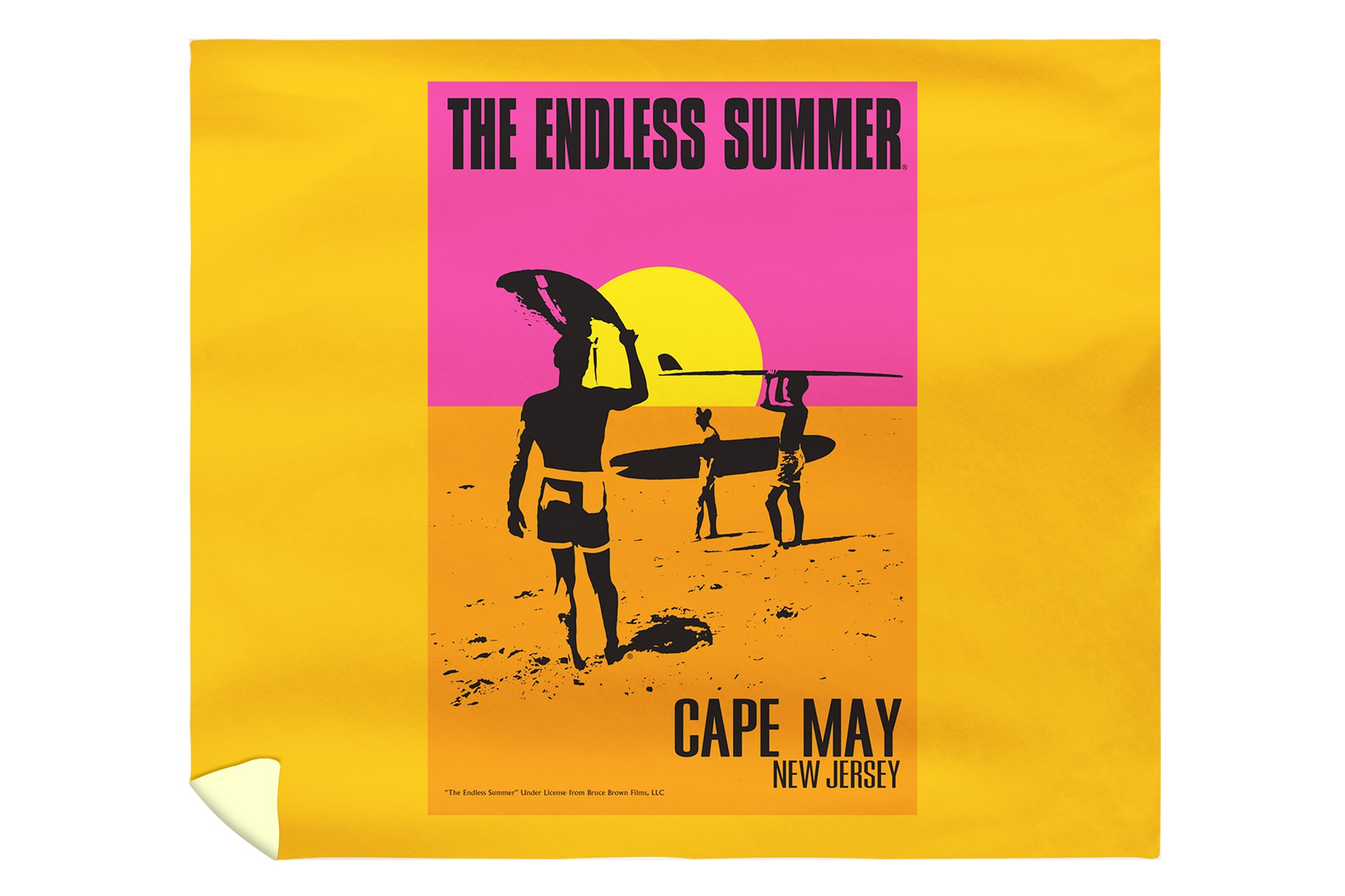 Cape May, New Jersey - The Endless Summer - Original Movie Poster (88x104 King Microfiber Duvet Cover)