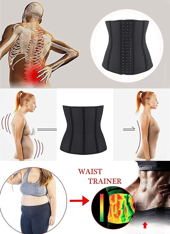 SHAPERX Womens Latex Colombian Waist Trainer Corset Long Torso Waist Cincher Weight Loss