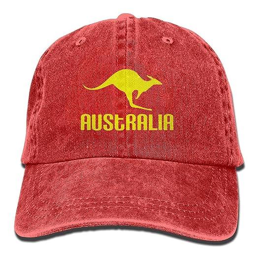 0373ea1f Australia Kangaroo Proud Aussie Adjustable Baseball Caps Denim Hats ...