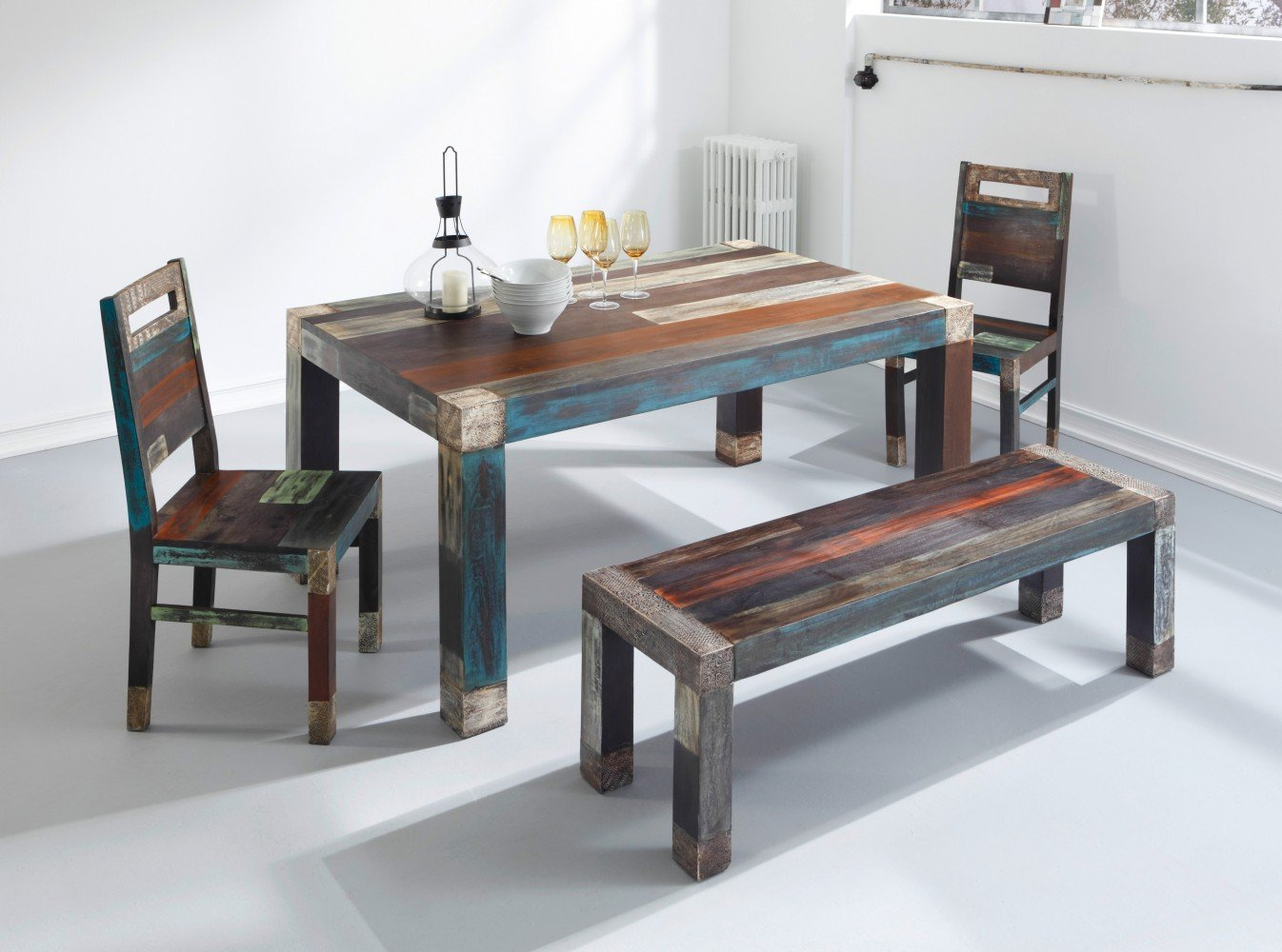 Wolf Möbel GOA 3515 Esstisch, Holz, 100 x 160 x 77 cm, bunt: Amazon ...