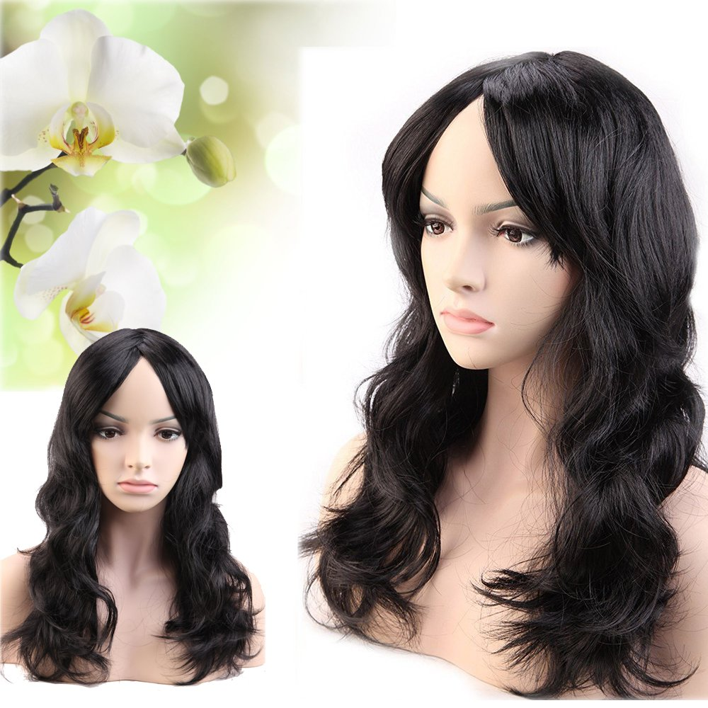 Glamorous 7 Styles Synthetic Wigs 19   Long Wavy Hair with Oblique Bangs  for Women Dancing. 5c45b6ef6