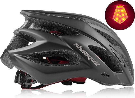 Shinmax Casco de Bicicleta con Visera Desmontable Casco de ...