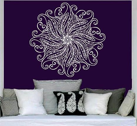 Amazon.com: Mandala Pared Vinilo calcomanía sticker ...