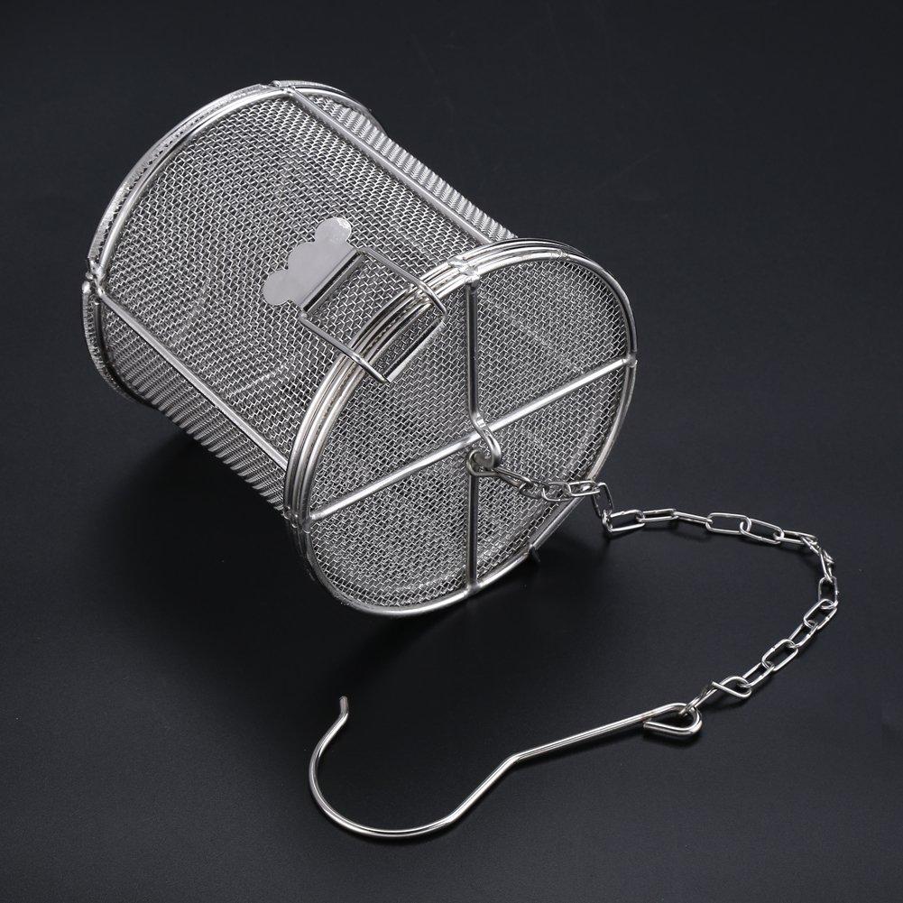 Filtro per palline da t/è 8 * 10cm Filtro per palline da t/è in acciaio inossidabile Condimenti per zuppe Cestino separato Filtro per spezie