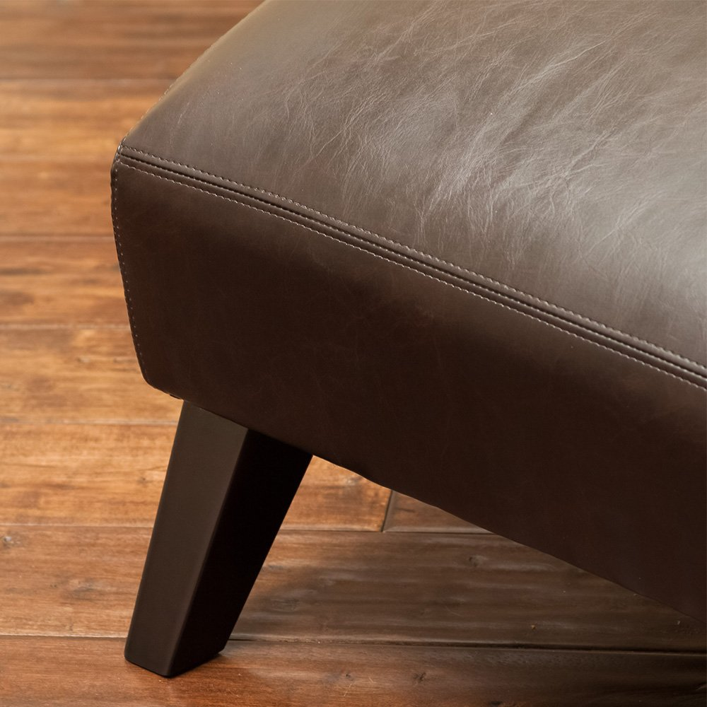 Amazon.com Cleveland Brown Leather Curved Chaise Lounge Chair Kitchen u0026 Dining : curved chaise lounge - Sectionals, Sofas & Couches