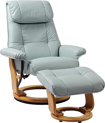 Starline Designs Ventura Swivel Recliner Chair and Ottoman