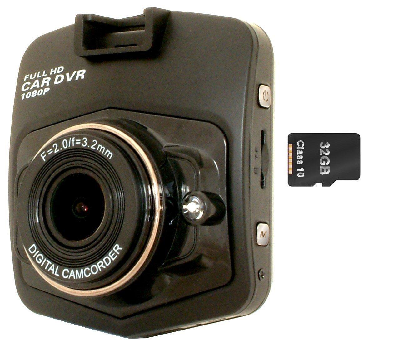Skyway visión leva tablero 6,1 cm * 32 GB SD pantalla Clase 10 memoria incluido* 1080 P HD cámara de vídeo graba hasta 3 horas de seguridad vigilancia HD: ...