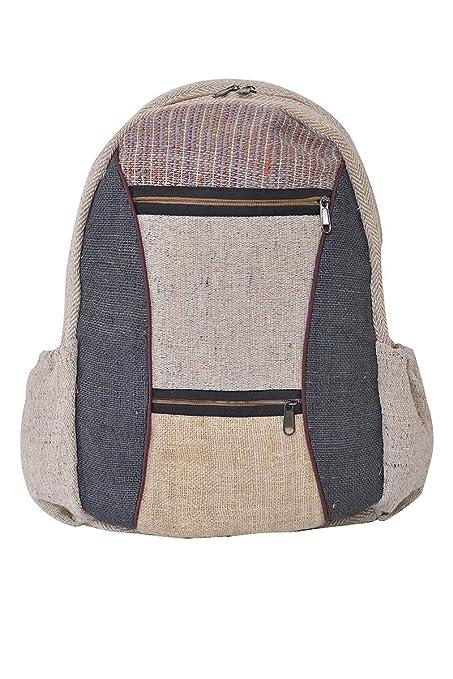 virblatt - Mochila hecha de cáñamo para hombres y mujeres - Daypack como ropa alternativa -