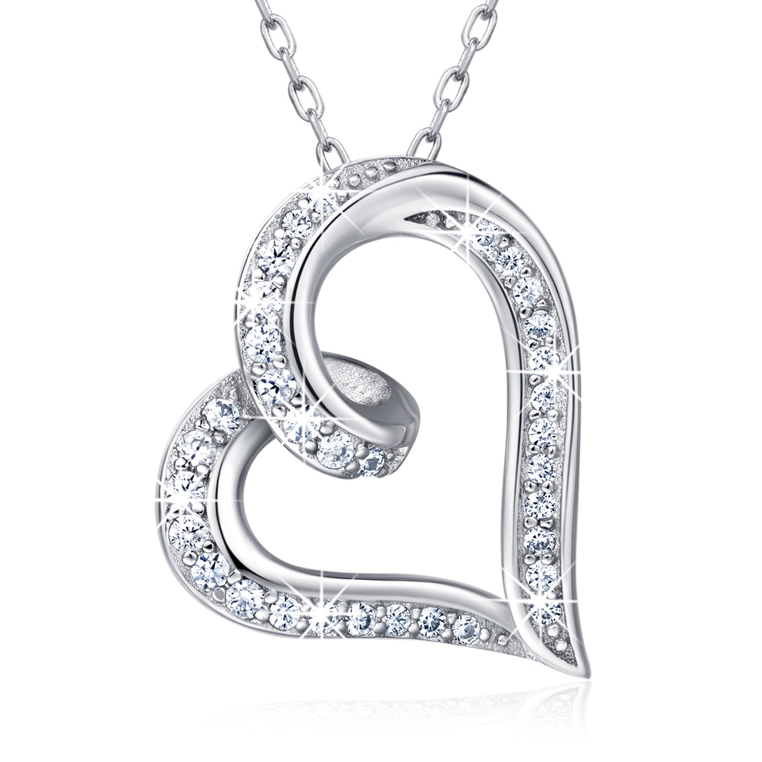 168fd553e DESIGN IDEA ♥ This sterling silver necklace twist as a infinity loop, it  just symbolizes an unbreakable connection, just like the relationship  between you ...