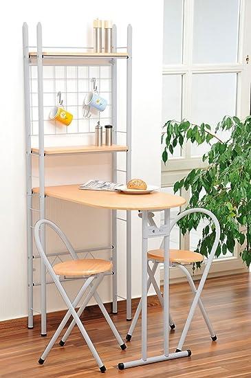 Küchentisch mit 2 stühlen: amazon.de: küche & haushalt