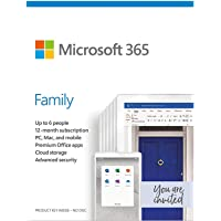 Microsoft 365 Family, 1 Year Subscription 6 User