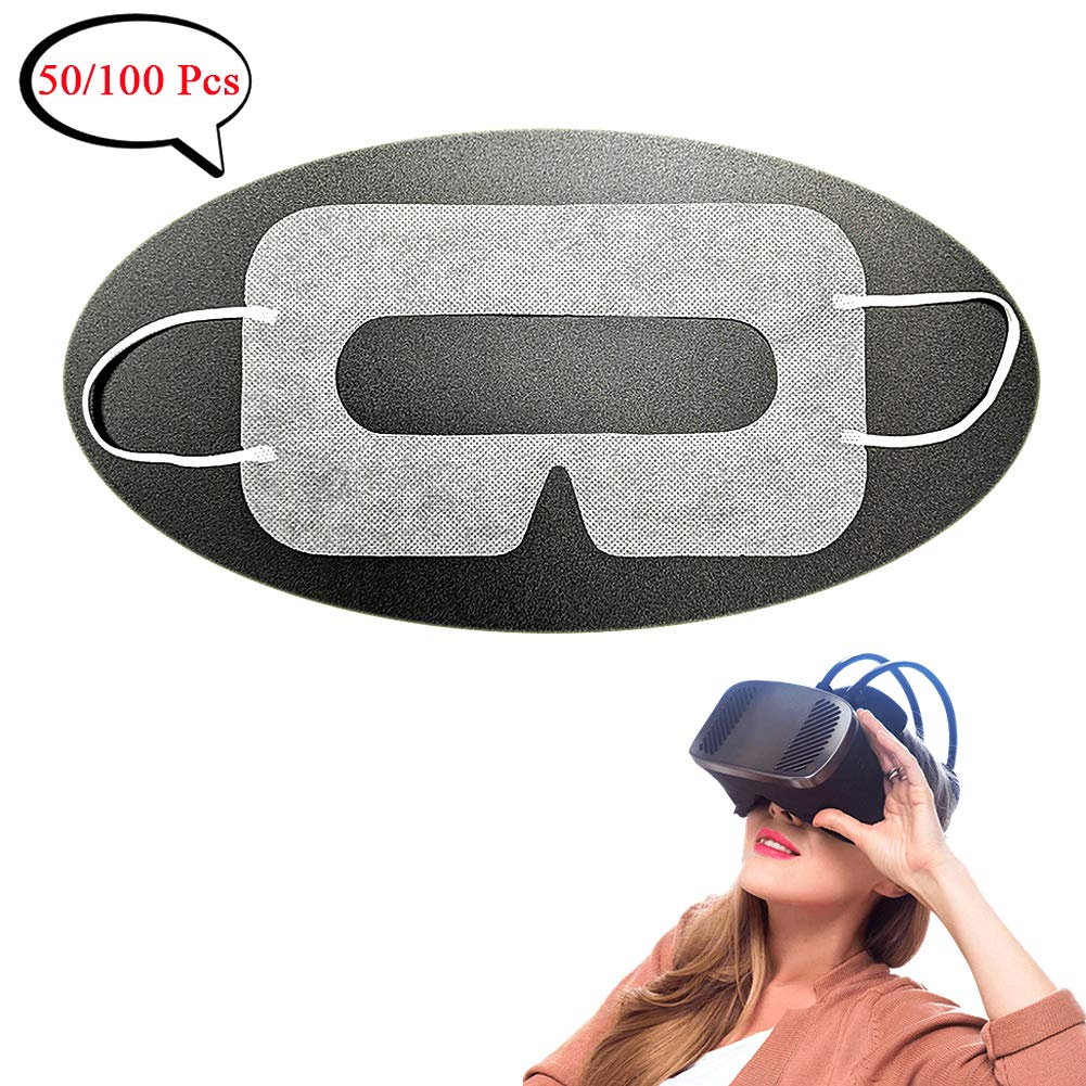 YinQin Universal Disposable VR Mask Cover 50 PCS Eye Mask Cover for VR, VR Sanitary Mask, VR Eye Cover Mask, Virtual…