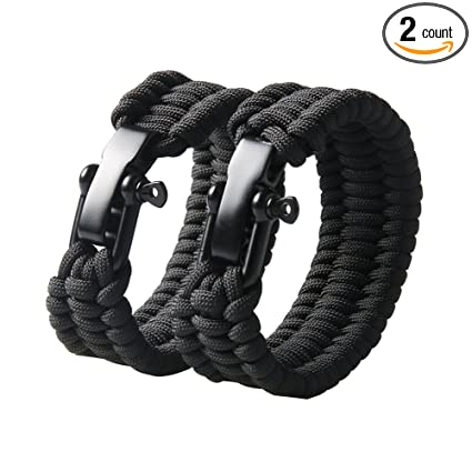 Amazon Com Campsnail Survival Paracord Bracelet For Women And Men