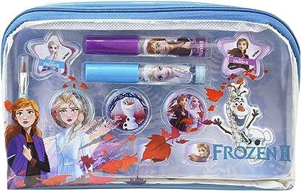 Frozen Essential Makeup Bag - Neceser Frozen II, Set de Maquillaje para Niñas - Maquillaje Frozen - Selección de Productos Seguros en un Estuche Muy Moderno: Amazon.es: Belleza