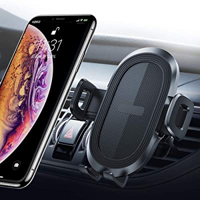 Universal Car Phone Mount, Car Phone Holder for Car Air Vent with Quick Release Button Compatible with iPhone X/XR/XS/Max/8/Plus, Samsung Galaxy S10/10+/9/Note 9/8, Google, Huawei and More