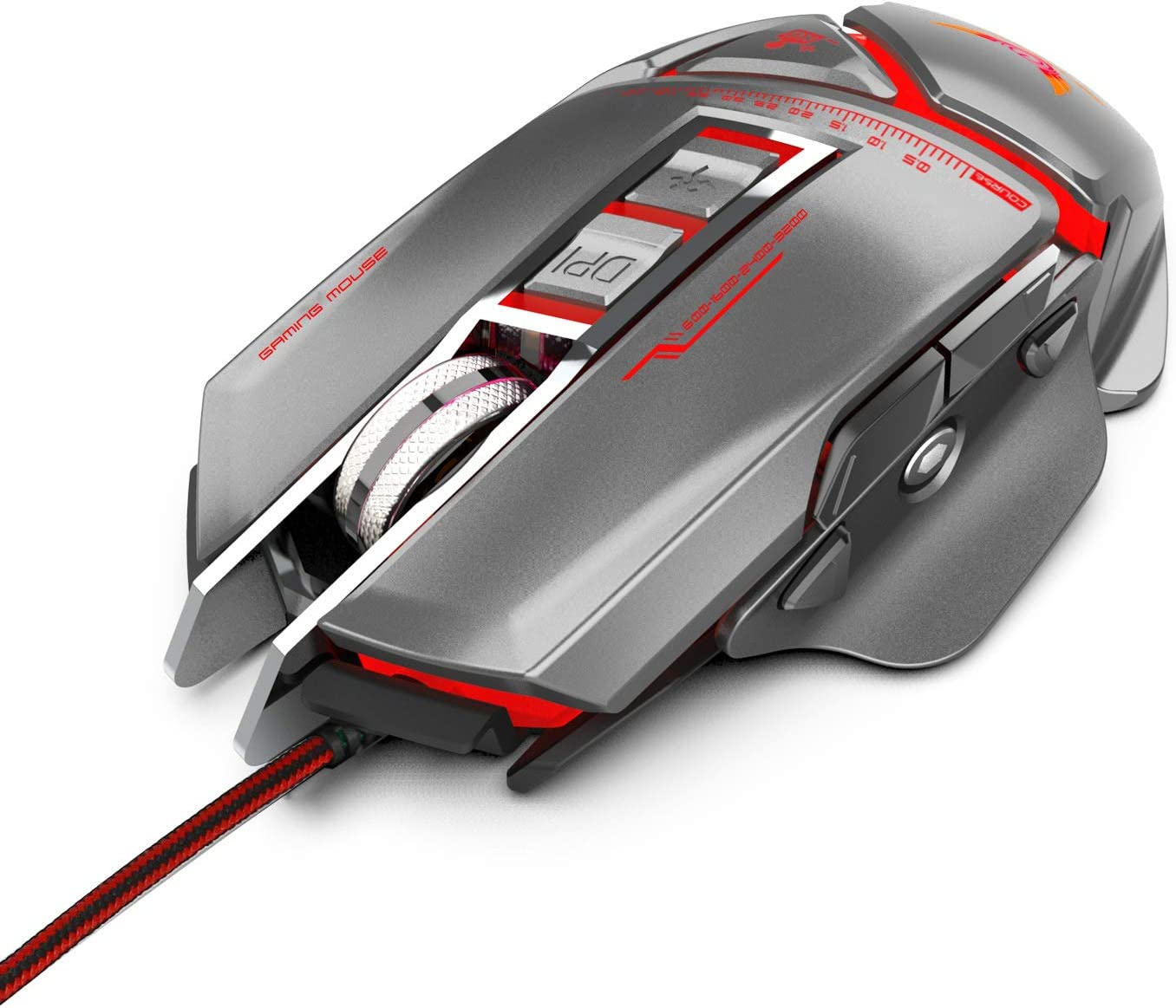 3200 DPI Breathing Light Ergonomic Game USB Computer Mice RGB Gamer Desktop Laptop PC Gaming Mouse,Black Programmable Gaming Mouse Wired