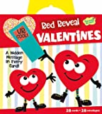 Peaceable Kingdom Red Reveal Happy Riddle Super Valentine Card Pack