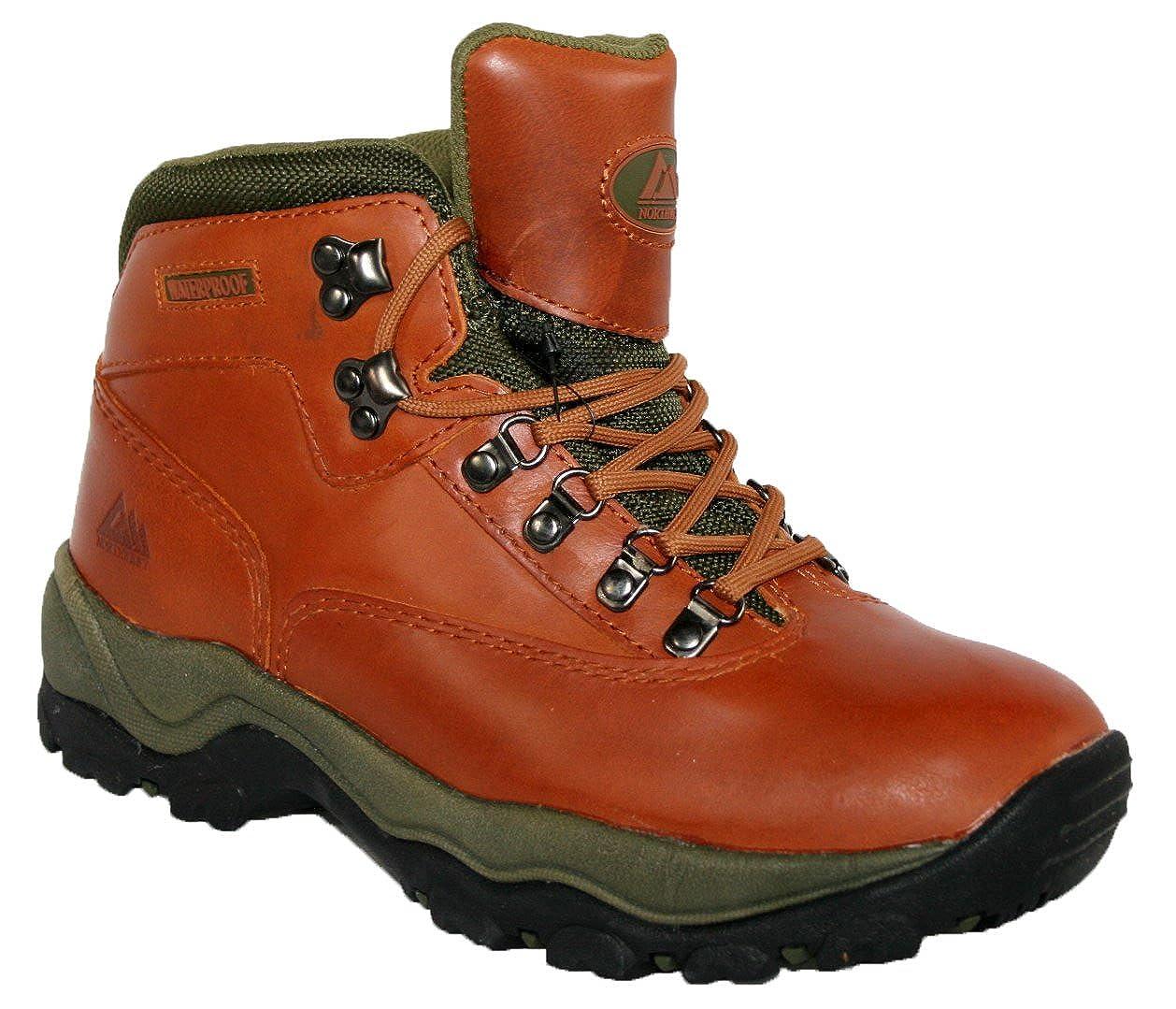 3a289565481 LADIES PEAK LACE UP PREMIUM LEATHER UPPER WATERPROOF WALKING HIKING  TREKKING BOOT  Amazon.co.uk  Clothing