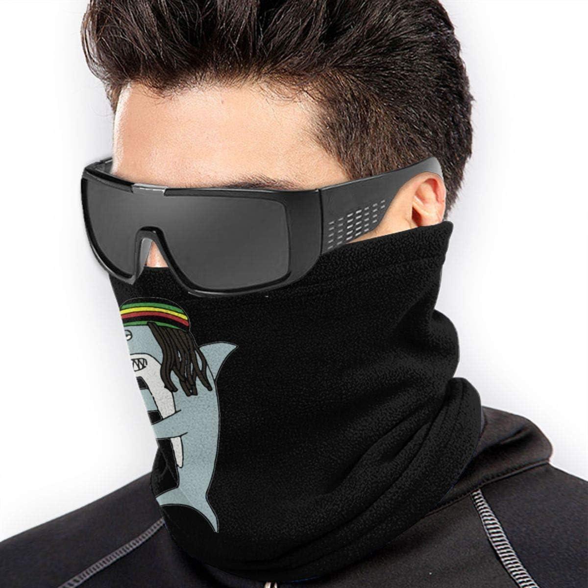 JKHHW Reggae Shark Fashion Warm Ski Cache-Cou en Microfibre