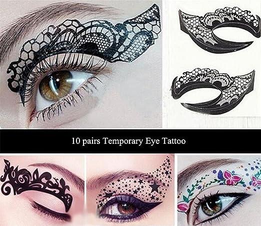 10 pares de ojos Make Up Tattoo, sombra, sombra Pegatinas de ...