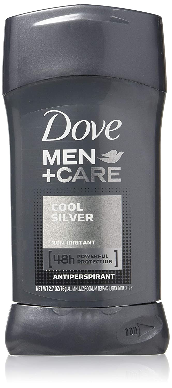 Dove Men+Care Antiperspirant Stick, Cool Silver, 2.7 Ounce (Pack of 2)