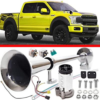 Cobra Tuni Air Horn Kit for Trucks Super Loud 150DB 12V - Advanced Technology, Easy to Connect, Optimal Safety on The Road - Truck Air Trumpet Suitable for Trucks SUV Boats Train: Automotive