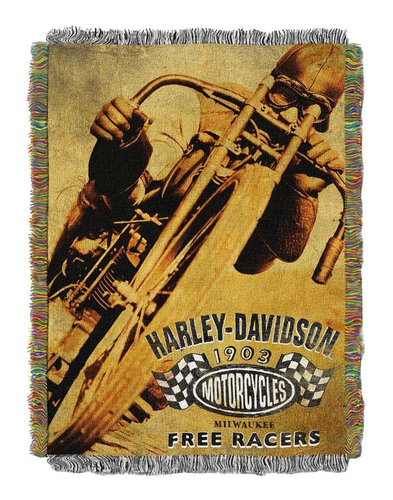 Harley-Davidson Free Racer Tapestry Throw Blanket