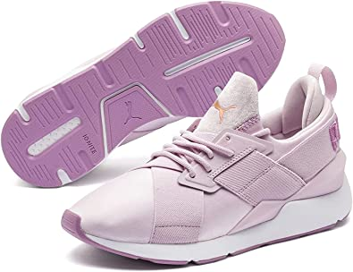 Amazon.com: Puma Muse Satin Womens Sneakers Pink: Clothing