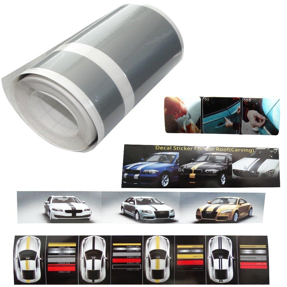 Aerzetix bande film sticker de toit capot coffre centre adhésif argent 10cm 4 5m pour tuning decoration auto voiture c17014 amazon fr cuisine maison