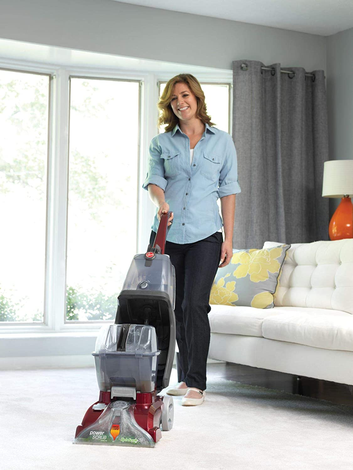 Hoover Power Scrub Deluxe Carpet Cleaner Machine, Upright Shampooer