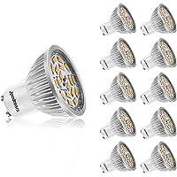 Ampoule LED GU10, 7W 550LM Spot LED, Équivalente 60W Ampoule Halogène, Blanc Chaud 3000K, AC85-265V, 140° Larges Faisceaux, Ampoule Réflecteur LED by Jpodream - Lot de 10