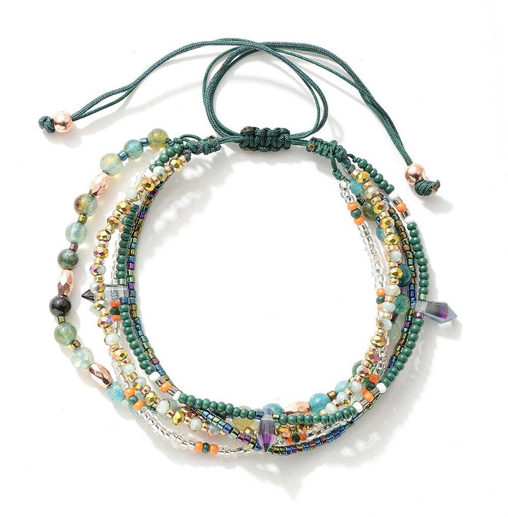 Joya Gift Adjustable Wrap Bracelet Bohemian Braided Beads Summer Beach Anklet for Women Girls by Joya Gift (Image #1)