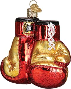 Old World Christmas Sports Collection Glass Blown Ornaments for Christmas Tree Boxing Gloves