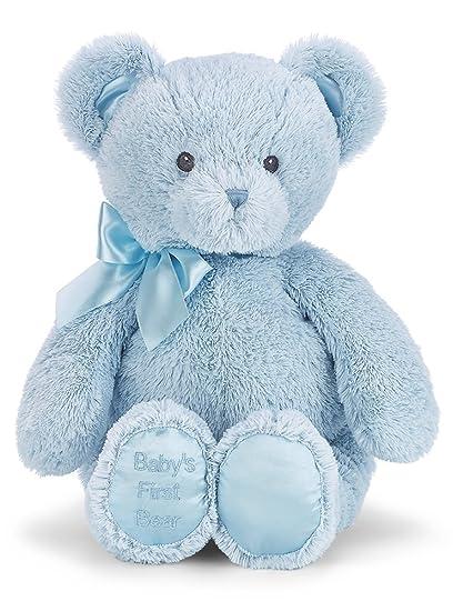 Amazon bearington babys first teddy bear blue plush stuffed bearington babys first teddy bear blue plush stuffed animal thecheapjerseys Choice Image