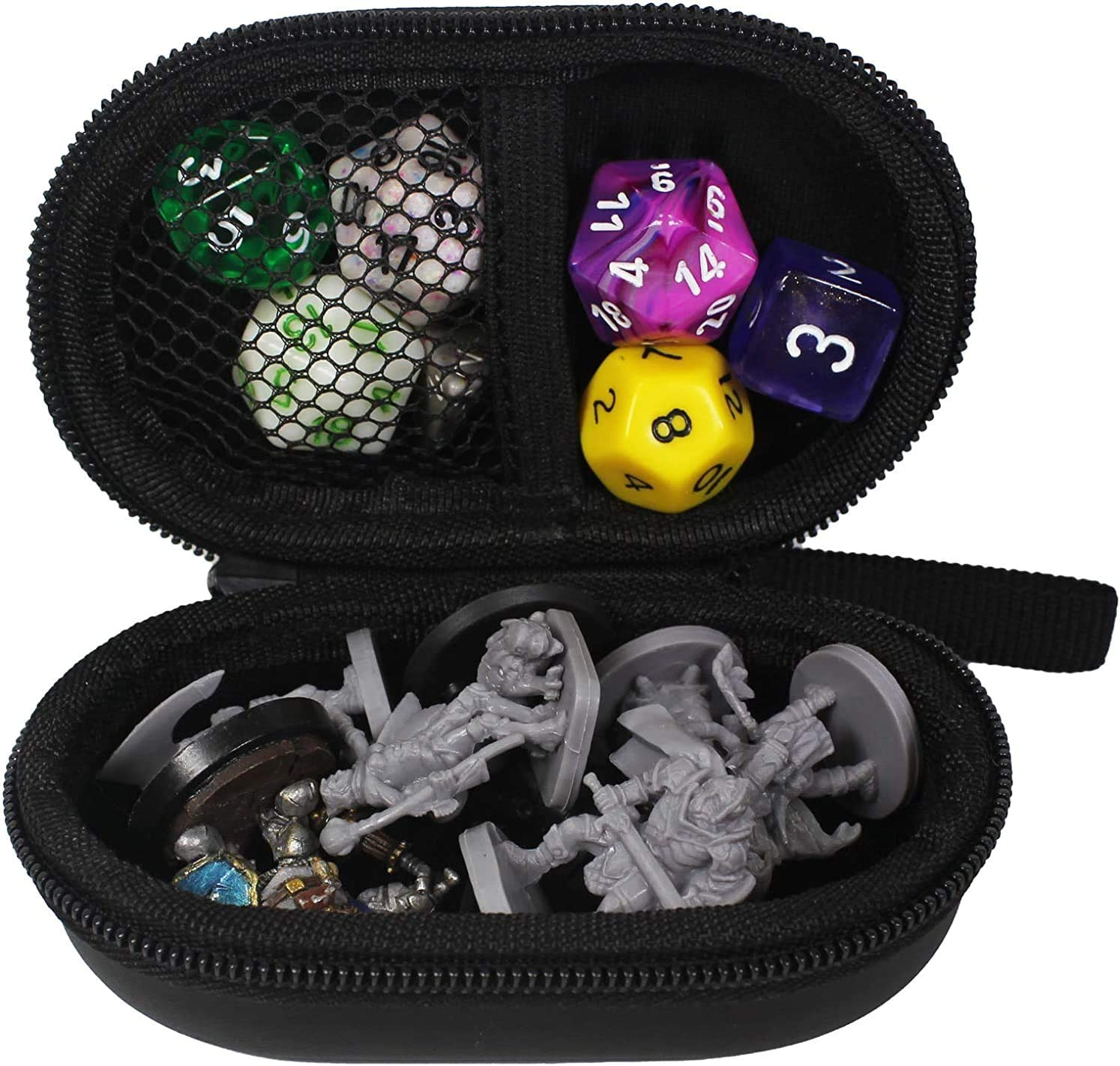 Case ONLY, Dices NOT Included Card Games TUDIA EVA Small Empty Hard Dice Case for Board Games RPG Table Games Dungeons /& Dragons Small