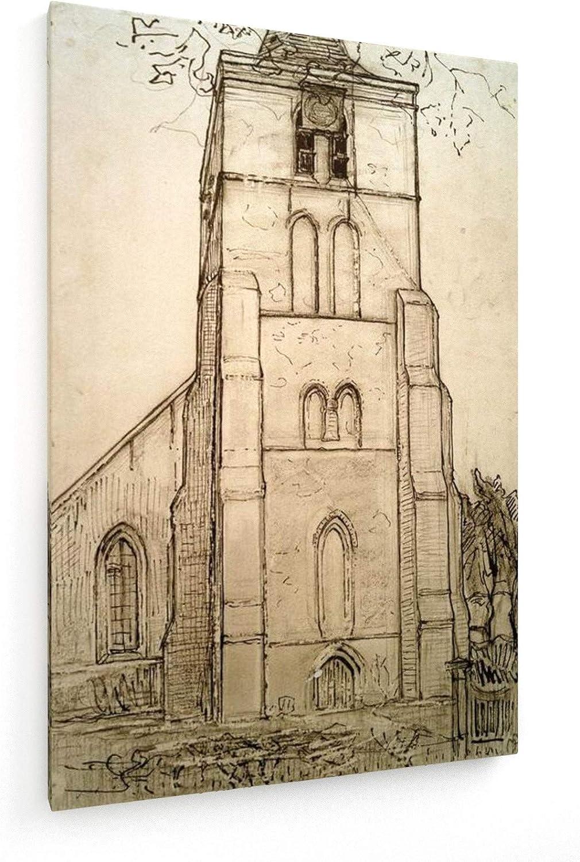 Piet Mondrian Kirche zu Domburg Leinwandbild