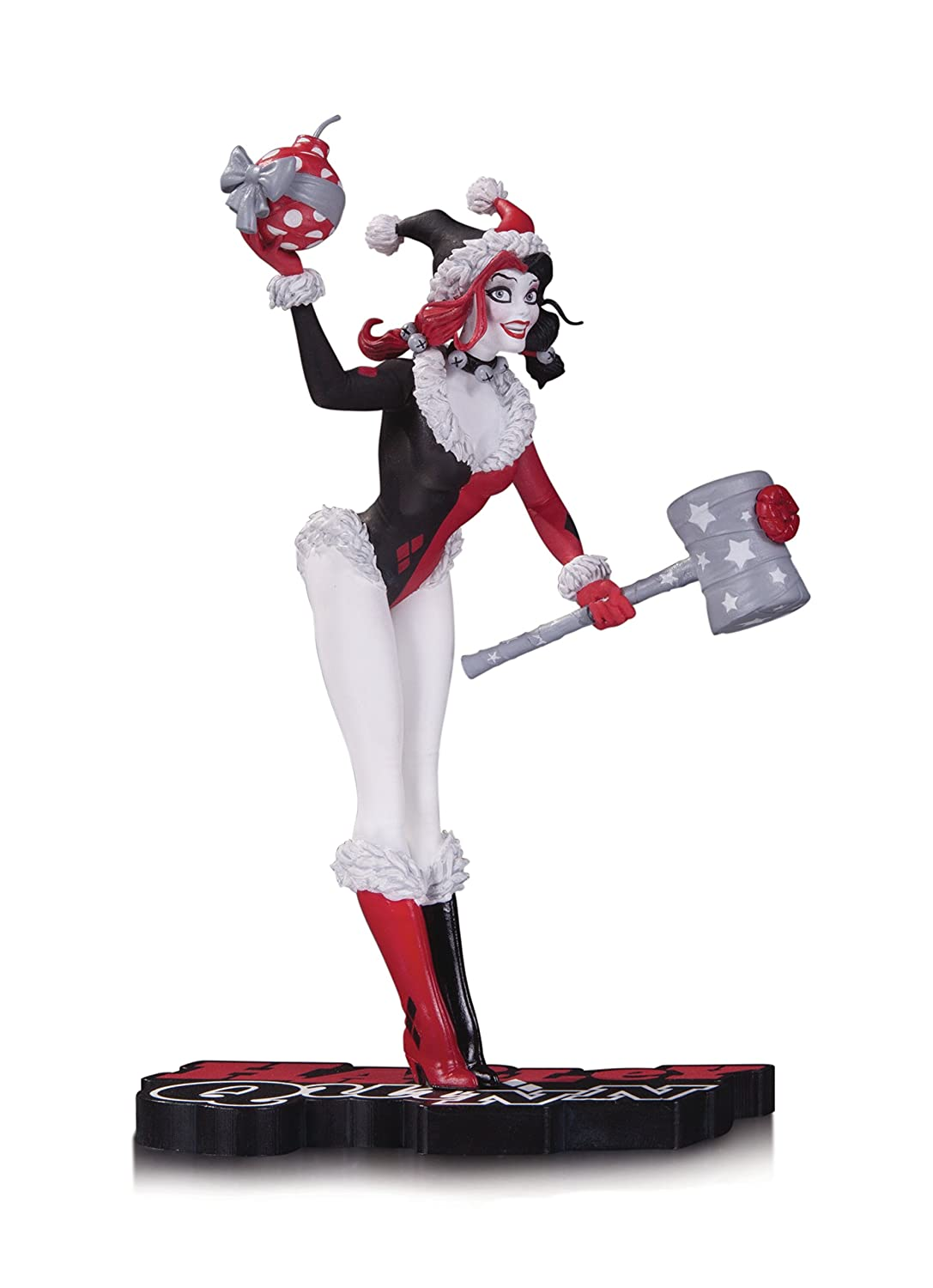 DC Comics MAY160361 Harley Quinn rosso nero & bianca Holiday statue