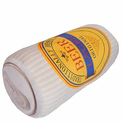 Tama Rinda Relax de Cerveza Cojín Divertido Regalo para Mujeres y Hombres, Rollo Cojín, Decoración