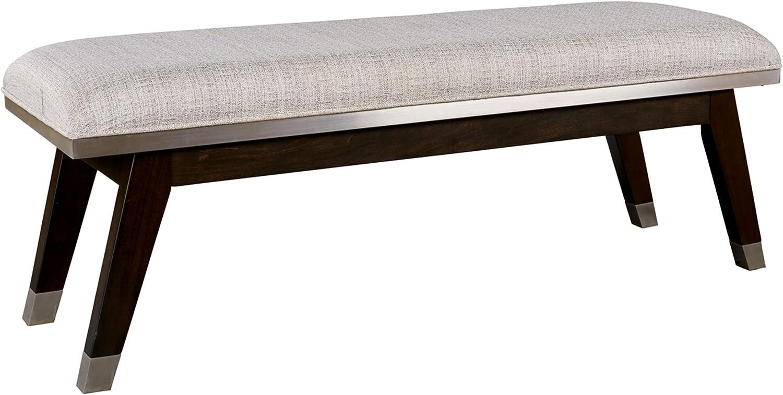 Signature Design by Ashley Maretto Bedroom Bench, Espresso Brown/Silvertone