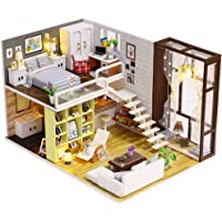 ab 6 Jahren Ma/ßstab Miniaturmodelle Puppenhaus Zubeh/ör BOHS 34 St/ück Puppenhausm/öbel Bastelset Holz DIY 3D Puzzle