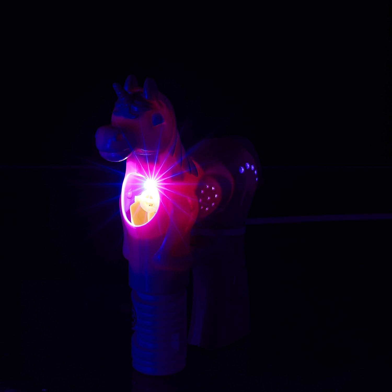 Einhorn Seifenblasenpistole Seifenblasenmaschine LED Seifenblasen Flüssigkeit